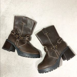 Vintage 90's Sketchers Brown Chunky Moto Boots